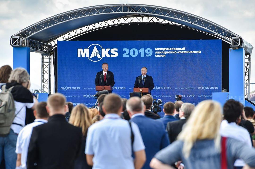 Президенту России Владимиру Путину представили экспортный вариант МиГ-35 на МАКС-2019