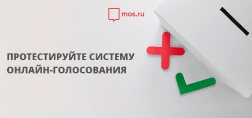 онлайн голосование госулуги москва