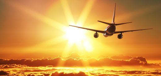 самолет закат путешествия