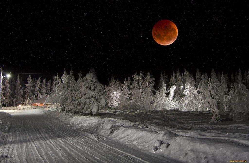 ночь Сибирь дороги