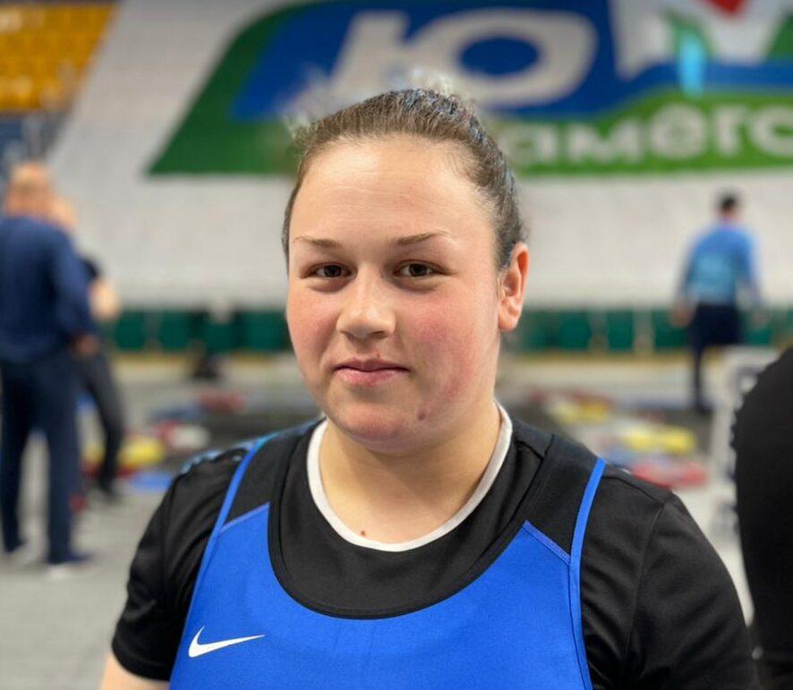 Дарья Ахмерова улучшила свой рекорд в толчке - 140 кг.